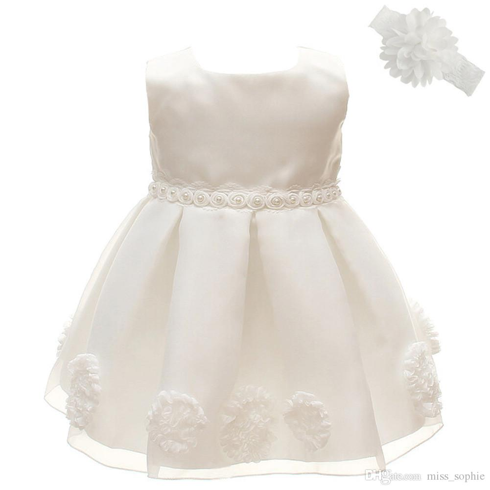 61e113837 Factory Outlet Baby Flower Girl Dress Princess Pageant Birthday Wedding  Lace Tulle Little Girls Special Occasion Dresses for NB-2Years Baby