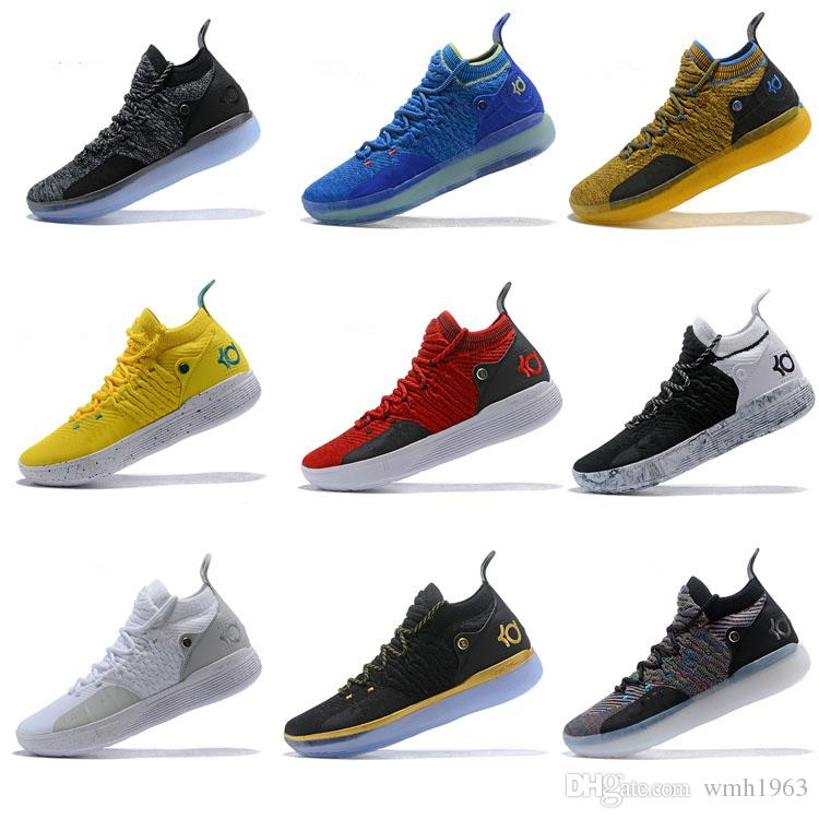 4c75cb091096 2018 New Kevin Durant 11 Basketball Shoes Mens KD 11 XI Gold Championship  MVP Finals Sports Training Sneakers Run Shoes Size 40 46 Sneakers For Women  Shoes ...