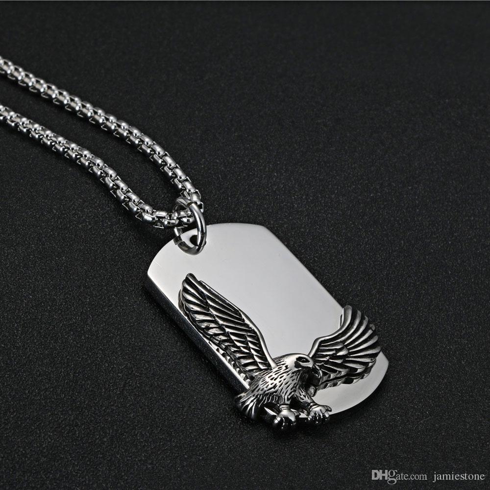 Conjunto de joyas de acero inoxidable Acero inoxidable Animal Flying Eagle Pendant