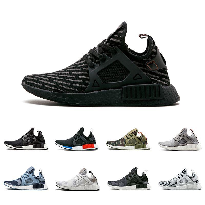 3e1cd460190 Acheter Hommes Designer Chaussures Adidas Nmd XR1 Running Basketball  Chaussures Femmes Vert Olive Bleu Noir Blanc Pour Sport En Plein Air  Formation Sneakers ...