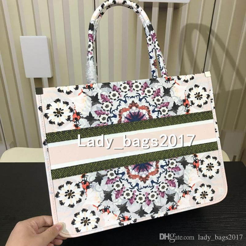 5bb990e8ef4 Luxury Classic Colorful cherry blossom flowers Book Totes Designer handbag  Printed embroidered canvas bag large capacity purse shopping bags