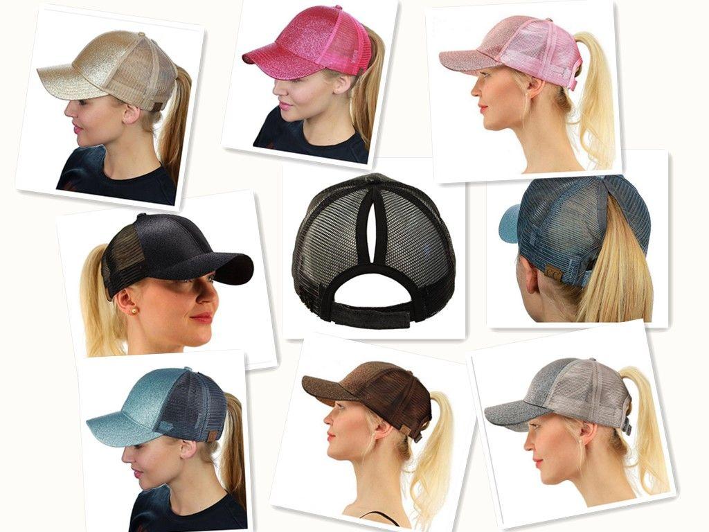 AAA CC Ponytail Cap Messy Bun Women Ponytail Caps Fashion Girl ... 05e92c0cc451