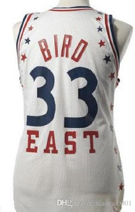 ca6e97dfeff Wholesale LARRY BIRD 33# ALL STAR Jersey Mens White Stitched Vest ...