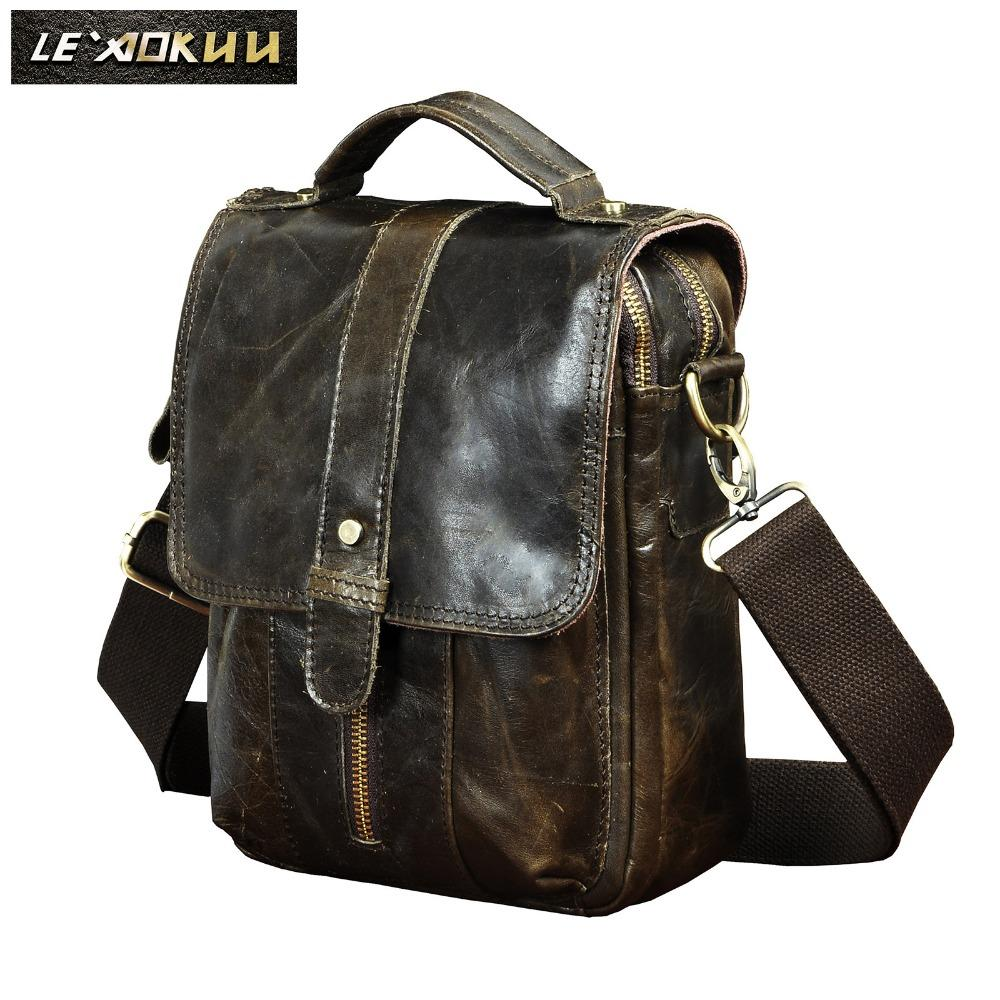 Original Leather Male Designer Travel Casual Shoulder Stap Messenger Bag  Fashion College 8 Tablets Tote Cross Body Bag Men 146g Leather Backpack  Purse ... 363a1bad53167