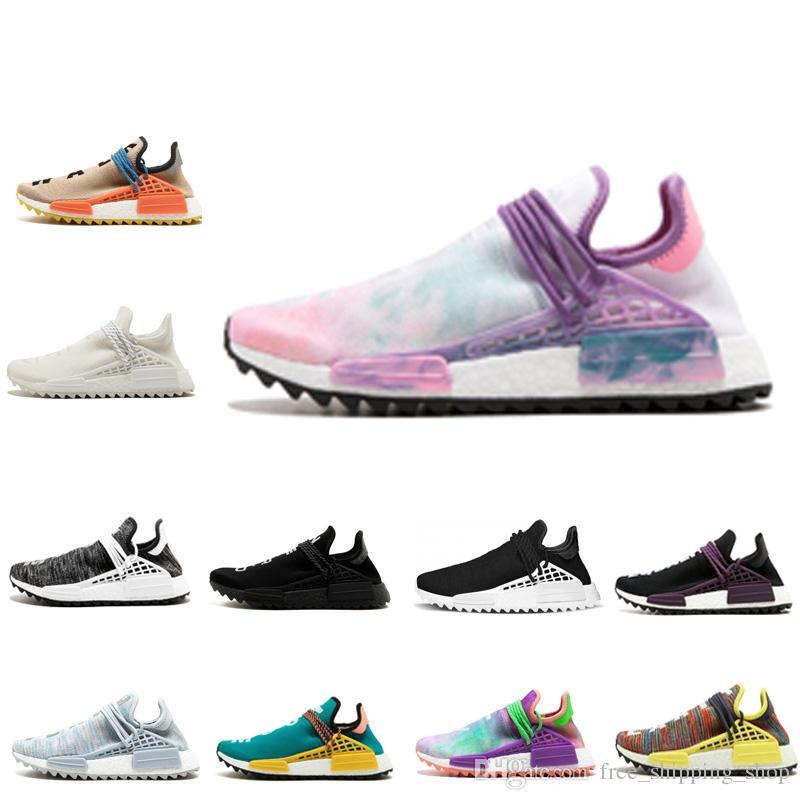 Nouveau style pharrell williams humain race nmd hommes femmes rose lueur Colette Pale nude sport chaussures de course nmd Sneakers pointure 36 45