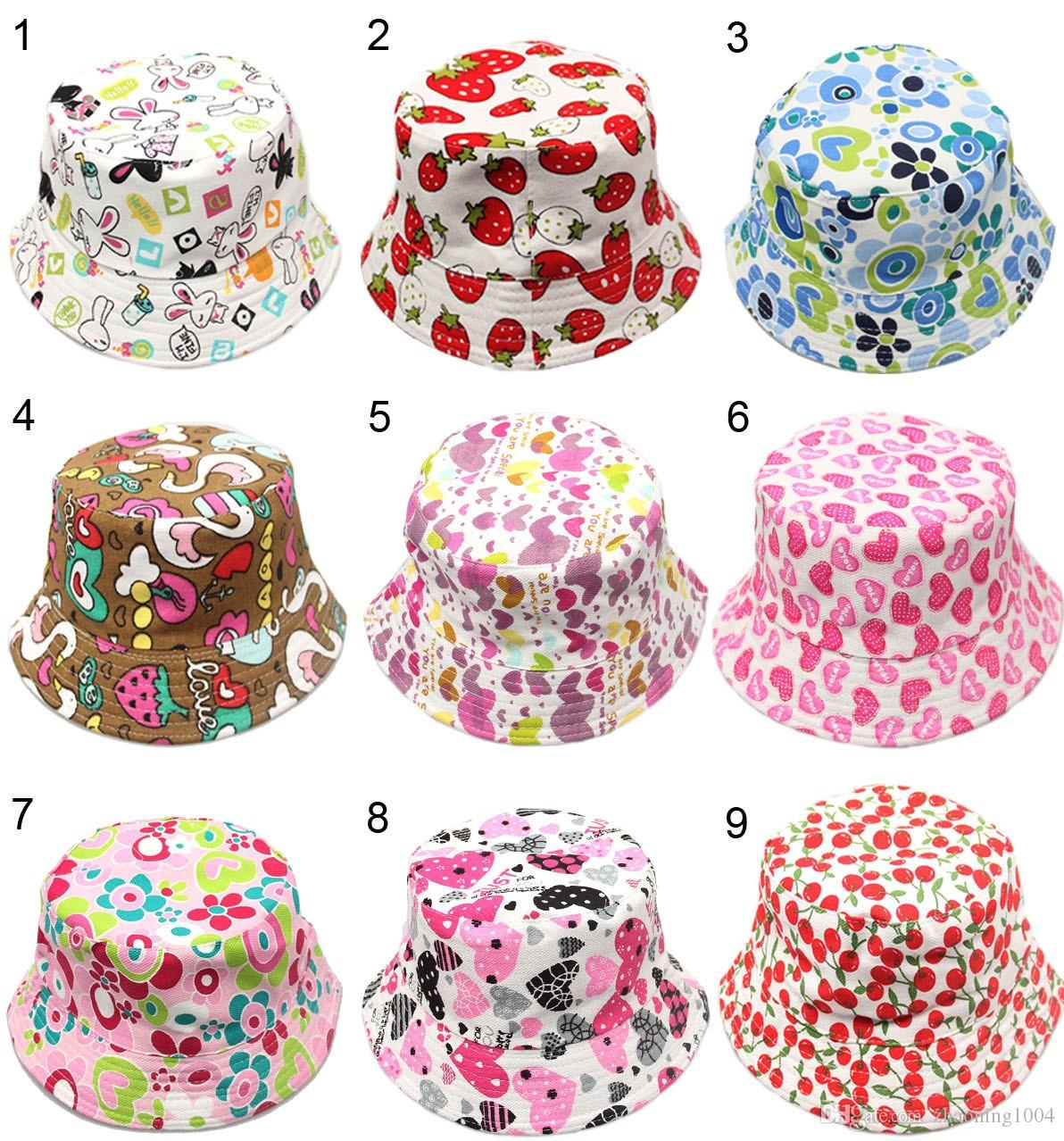 Apparel Accessories New Fashion Cartoon Colorful Fish Design Children Sun Straw Hats Kids Summer Bucket Cap Girl's Hats