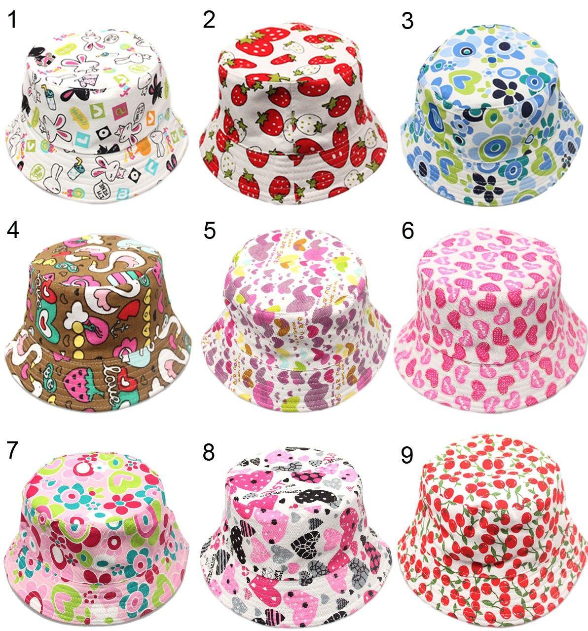 fbe0f2530f7 2019 Designer Childrens Honey Flower Bucket Hats For Kids Packable Foldable  Fishing Caps Baby Summer Wide Brimmed Beach Sun Visor Cappelli Gift From ...