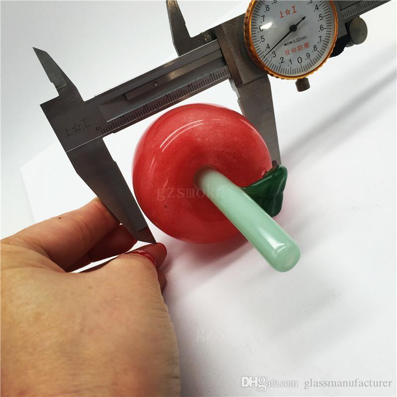 Colorati tubi di acqua ananas fumatori Carino Heady tubo di mela tubo di vetro pyrex mano cucchiaio gorgogliatore cera divertente accessori somking regalo rosso