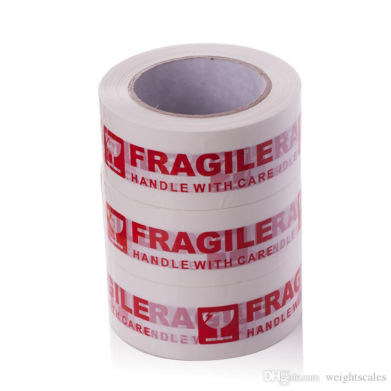 Warning Fragile Tape Handle with Care Packing Printing Tape-2 Inch x 330 Feet 110 Yards Packing Tape 1 Roll
