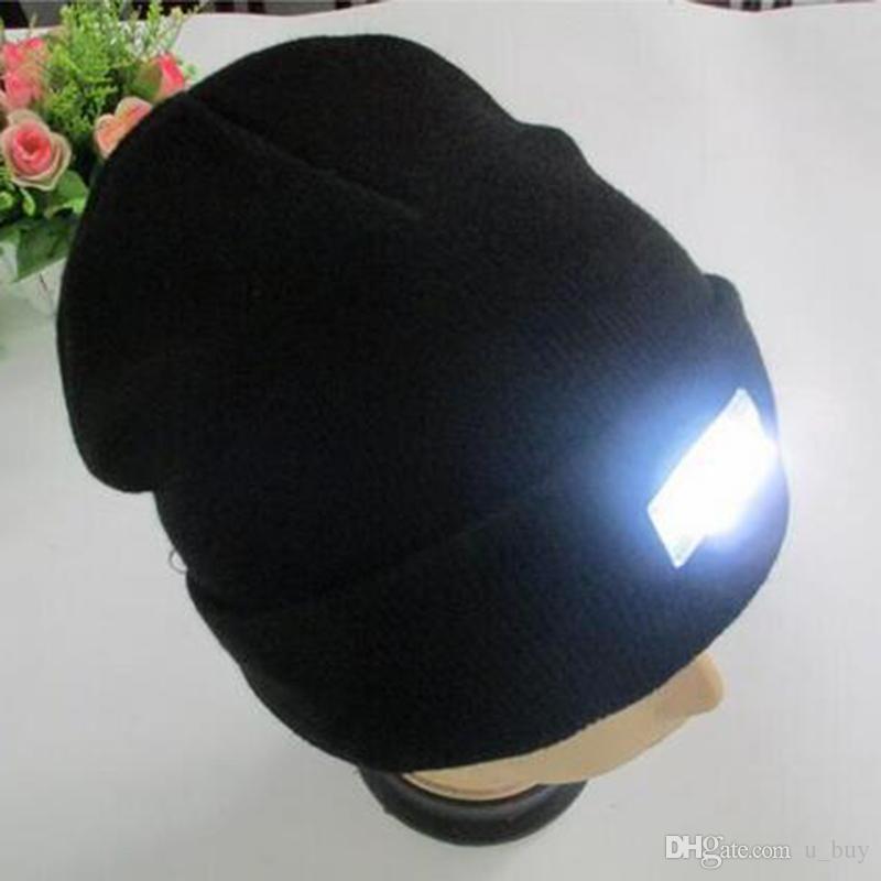 i Inverno Caldo Berretti Cappello LED Luce Sport Berretto Berretto Pesca Caccia Camping Cappelli Da Corsa Unisex Berretti Cappellino