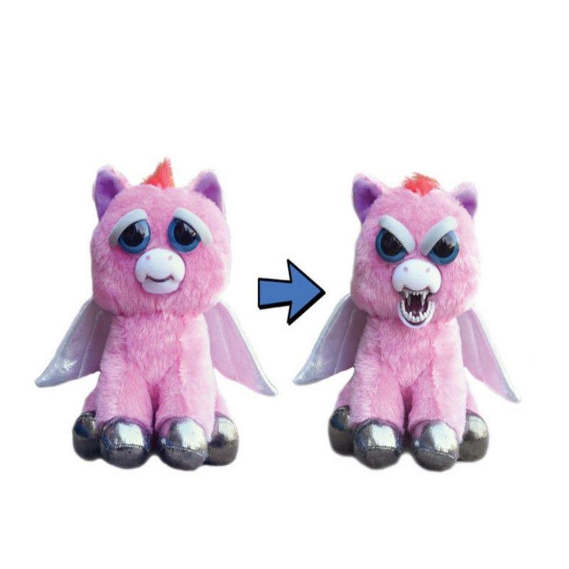 2018 New The hottest 20cm Dropshiping face Change Feisty Pets Animals Plush toys cartoon monkey unicorn Stuffed Animals for baby