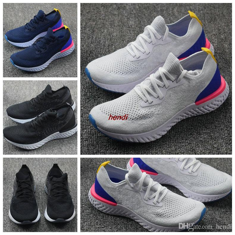 clearance supply cheap sale Inexpensive 2018 With Box Epic React Mens Womens Running Shoes knit Sport Trainers Us Size 5.5-11 Runner Sneakers Free Shipping kY5Ke4Fv