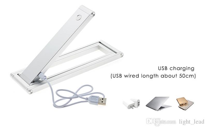 Carregamento USB Portátil MINI DIODO EMISSOR de Luz de Mesa Dobrável Ajustável DIY Luzes Da Noite Candeeiro de Mesa Para Estudo de Leitura Computador Cabeceira