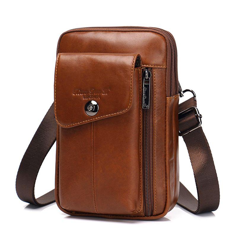 4bd2d5700a Fashion Genuine Leather Shoulder Bag Men S Waist Pack Phone Pouch Vintage Messenger  Bags Coin Purse Male Fanny Pack Belt Bag Best Hiking Backpacks Nice ...