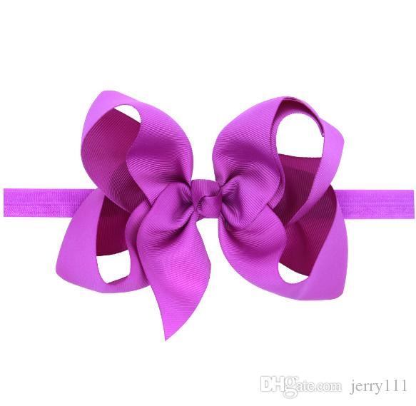 Baby Bows Headbands Kids Ribbon Elastic Headbands for Girls Children Hair Accessories Double Bowknot Hairband LC695