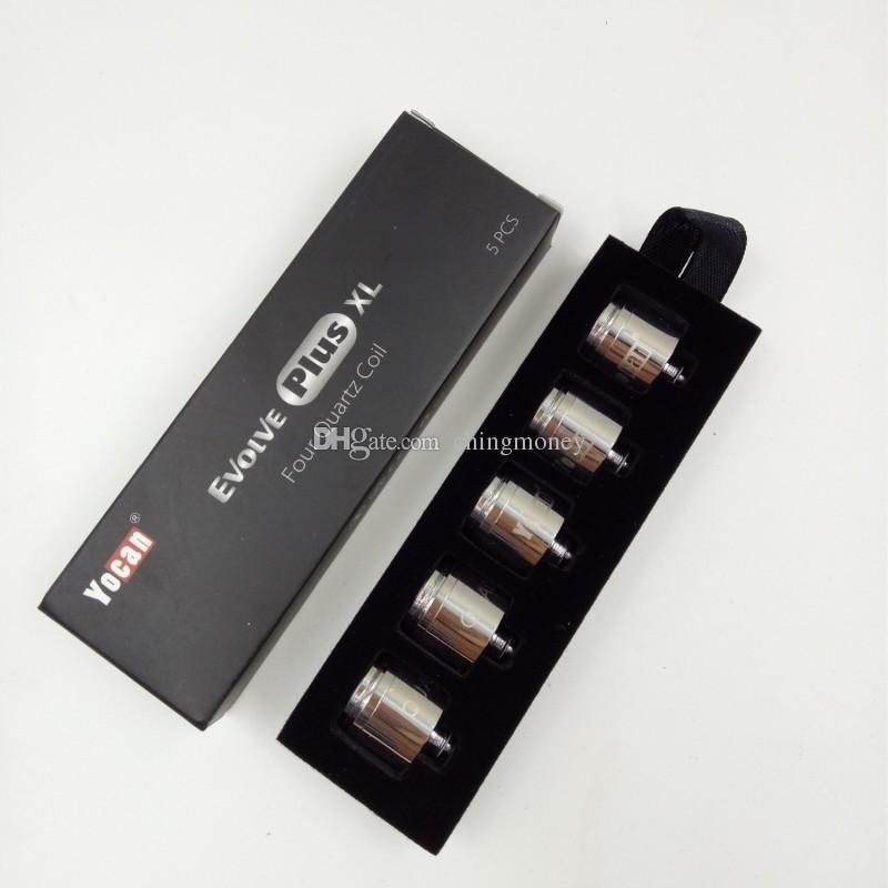 Starter kit Yocan Evolve Plus XL di vaporizzatore di cera QUAD Bobina Quad Quatz Bobina Evolve Plus XL Kit Dab Pen