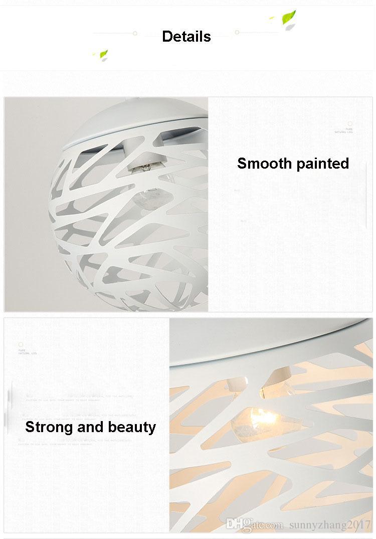 E27 홀더와 현대 펜 던 트 램프 금속 펜 던 트 라이트 Globle 램프, 스타일, 거실, 새로운 스타일을 잘라