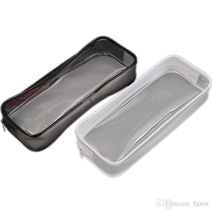 86680d318ef5 Compre Bolsa De Lápiz De PVC Bolsa De Cremallera Estudiantes Escolares  Transparente Transparente Impermeable Plástico PVC Caja De Almacenamiento  Estuche De ...