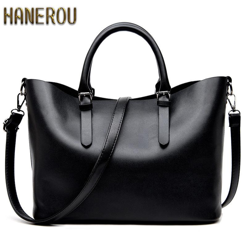 4d6d1f6d3a Bolso Mujer Negro 2018 Fashion Hobos Women Bag Ladies Brand Leather Handbags  Spring Casual Tote Bag Big Shoulder Bags For Woman S925 Crossbody Purses ...