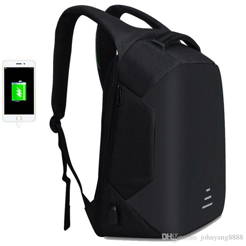 7ae1d6883b15 2019 2018 Men 15.6 Laptop Backpack Anti Theft Backpack Usb Charging Men  School Notebook Bag Oxford Waterproof Travel Backpack From Johnyang8888
