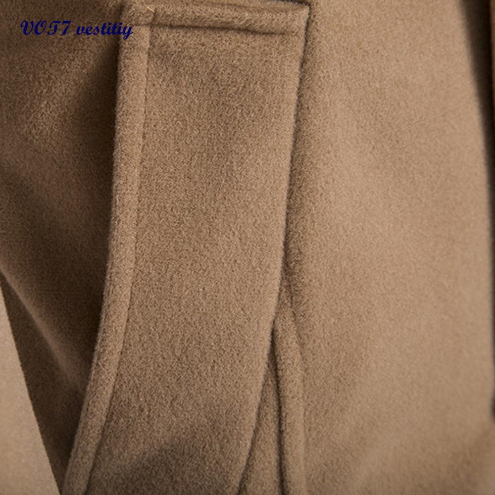 Mais quente homens cruel lã VOT7 vestitiy Homens Outono Inverno Botão Dupla Linha Gola Casaco De Lã Camisola Top Blusa 6 de dezembro