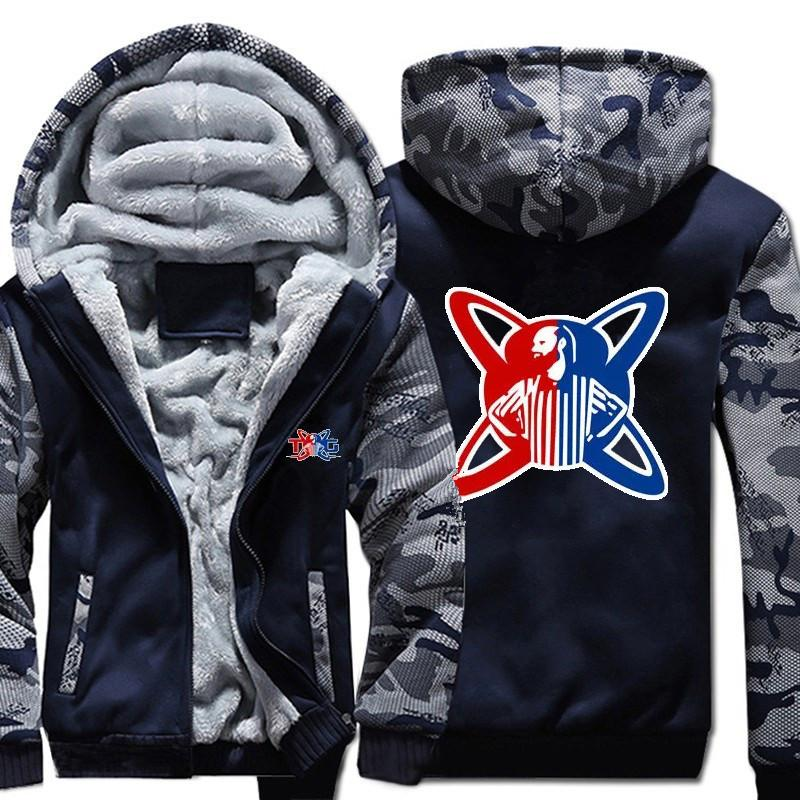 85fdfba714a28 USA SIZE Game H1Z1 Jackets TWIN Coat Warm Winter Men's Fleece Thick ...