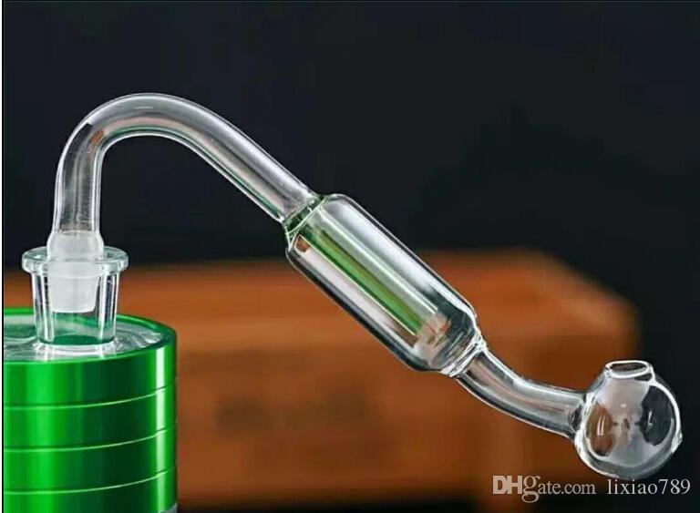 Doppelfilterglasplatte Großhandel Glasbongs Ölbrenner Glaswasserleitungen Bohrinseln Rauchen Frei nfgbn4524