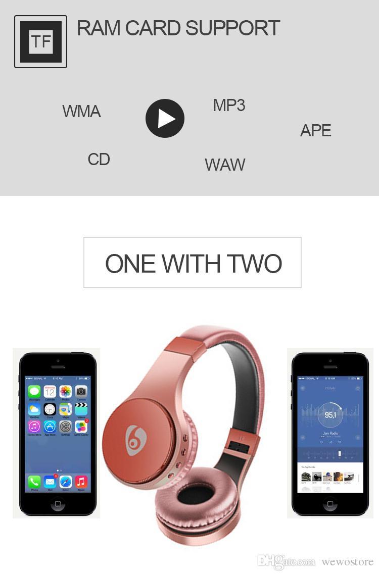 S55 Gaming Headset Auricular Bluetooth-Kopfhörer TF-Karte mit faltbarem Bügel-Kopfhörer drahtloser Kopfhörer für intelligentes Telefon