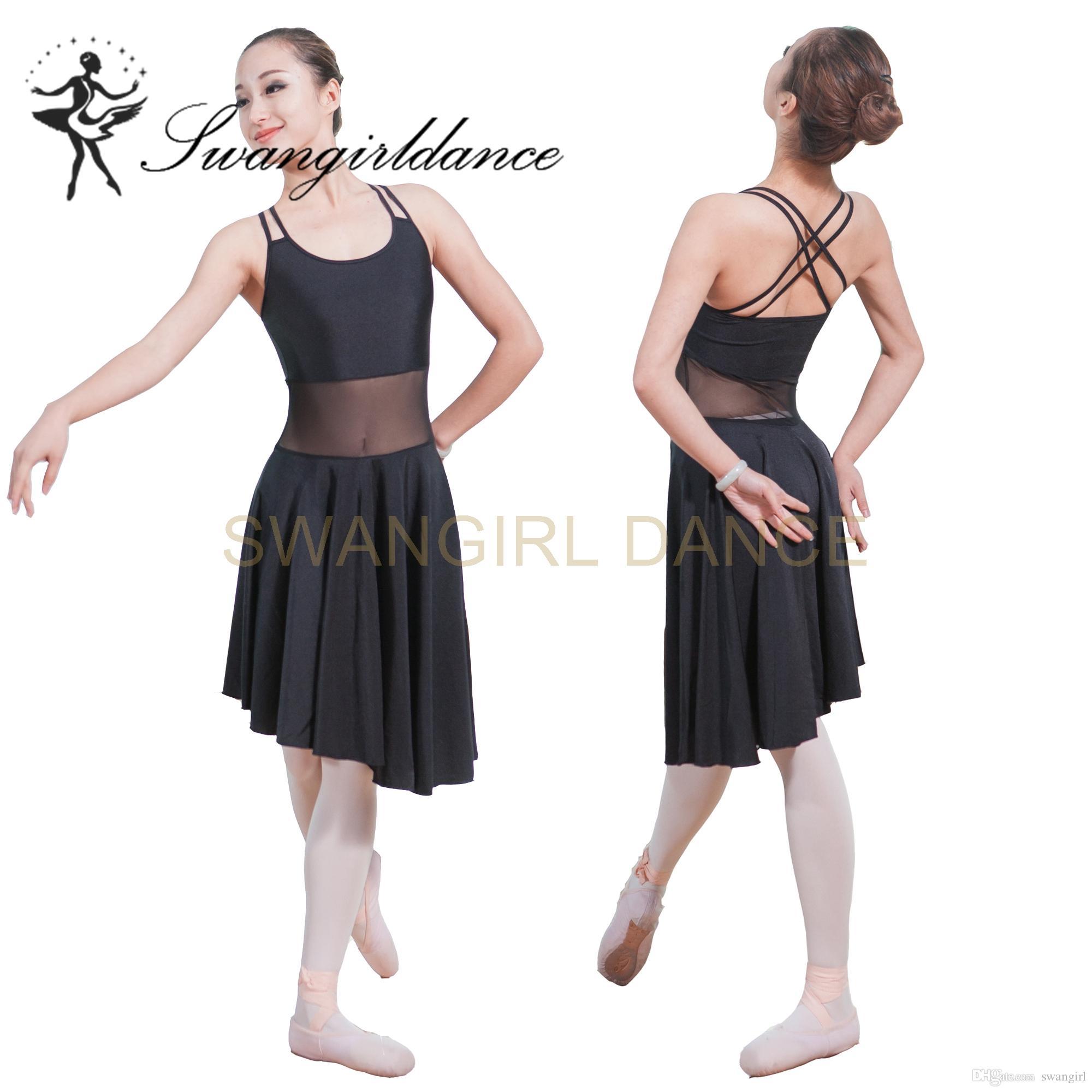a4a515c955 Compre Mulheres Camisola Dupla Sexy Professional Ballet Dança Vestido  Lírico Meninas Adultas Vestido De Dança Latina ML6029 De Swangirl