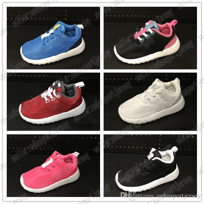 buy popular 35240 9f2f0 Acheter Nike Roshe Run Rosherun 2018 NEW Enfants Chaussures De Course Ultra  Léger Sport Enfants Chaussures Garçons Filles Wearable Trainers Enfant  Sneakers ...