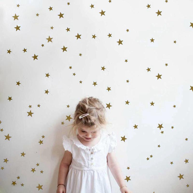 home decoration posters stickers gold stars pattern vinyl wall art