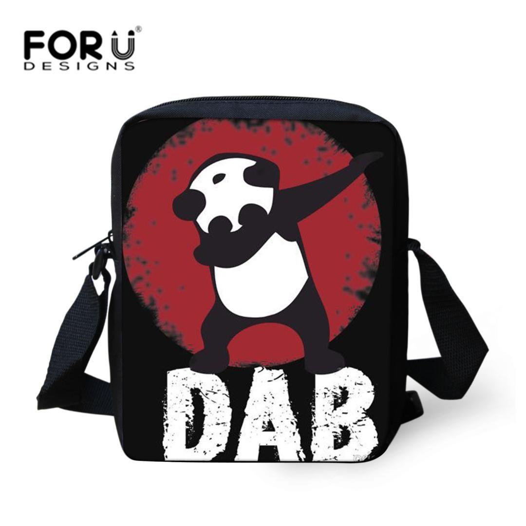 a57098d4da FORUDESIGNS Funny DAB Panda Print Crossbody Shoulder Bags For Women ...
