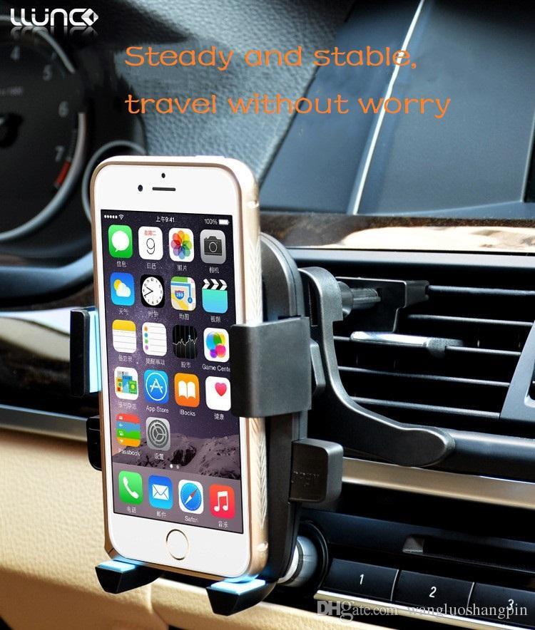 Soporte para teléfono para automóvil, soporte de ventilación para tomacorriente para automóvil, puerto de aire acondicionado multifuncional para automóvil, soporte de navegación creativo