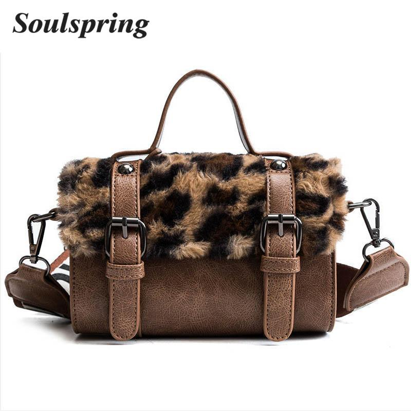 bf2fee013e Women Messenger Bag Classic Leopard Handbag Fashion Leather Shoulder Bag  Lady Autumn And Winter Faux Fur Crossbody Bags For Girl Handbag Sale Side  Bags From ...