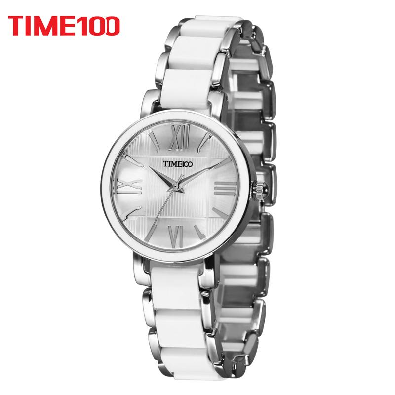 41fbb41c5b20 Compre TIME100 Relojes De Cuarzo Para Mujer Pulsera De Cerámica Simulada  Blanca Reloj Horas Relojes Informales De Mujer XFCS Relogios Femininos A   42.31 Del ...