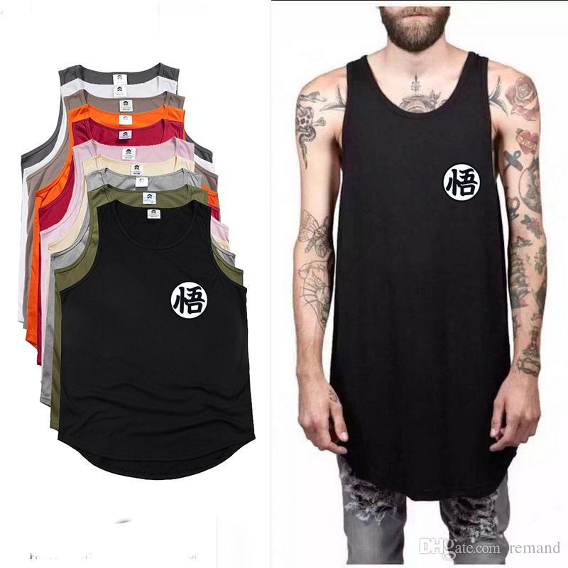 e168f58b607f 2019 Wholesale 2017 NEW Fashion Dragon Ball Cosplay Tank Tops Men Summer  Cool Dragon Ball Z Hip Hop Extend Men S Vest Goku Swag Sleeveless From  Remand