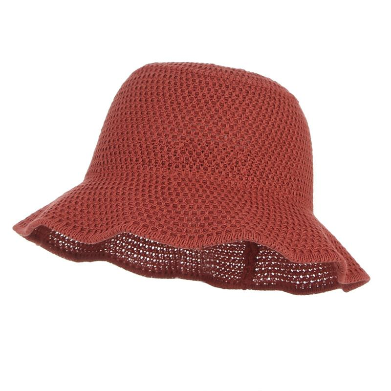 Breathable Solid Cotton Wide Brim Sun Caps For Women Handmade ... 4748fdeb7598