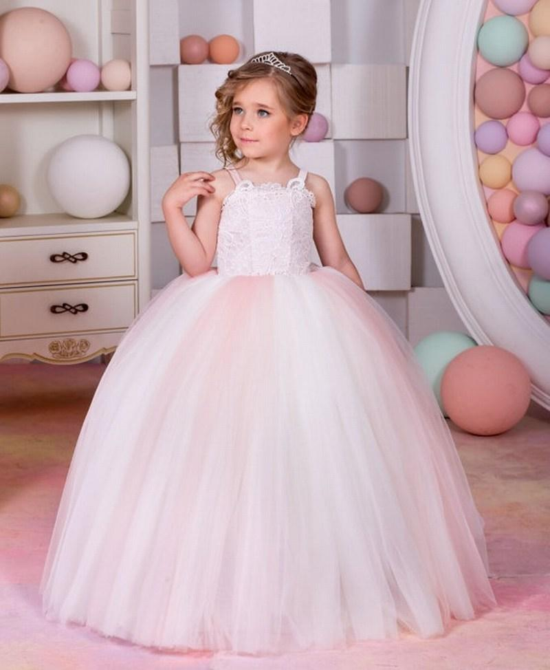 Flower Girl Dresses Weddings & Events Kids Girls High Waist Sleeveless Pleated Flower Girl Dress Princess Vestidos For Pageant Wedding Holiday Birthday Party Dress 2019 Official