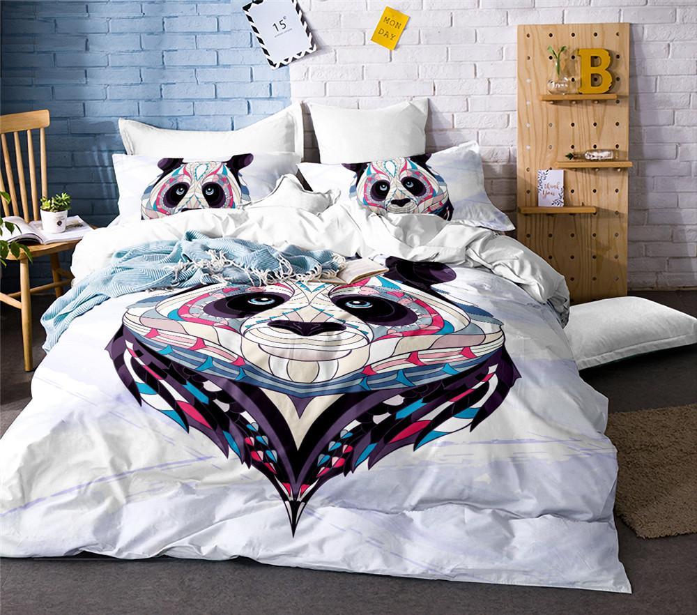 Acheter Ensemble De Literie Panda Aquarelle Imprime Housse De