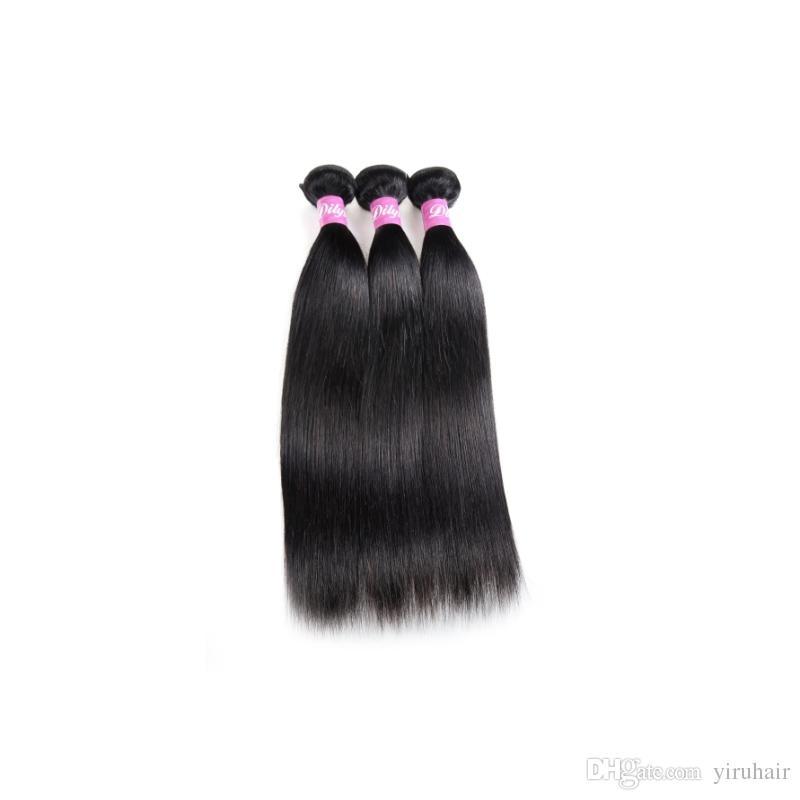 البرازيلي العذراء الشعر البشري 3 حزم 30-40 بوصة طويلة بوصة مستقيم الشعر ملحقات مزدوجة لحمة 95-100g / قطعة حزم