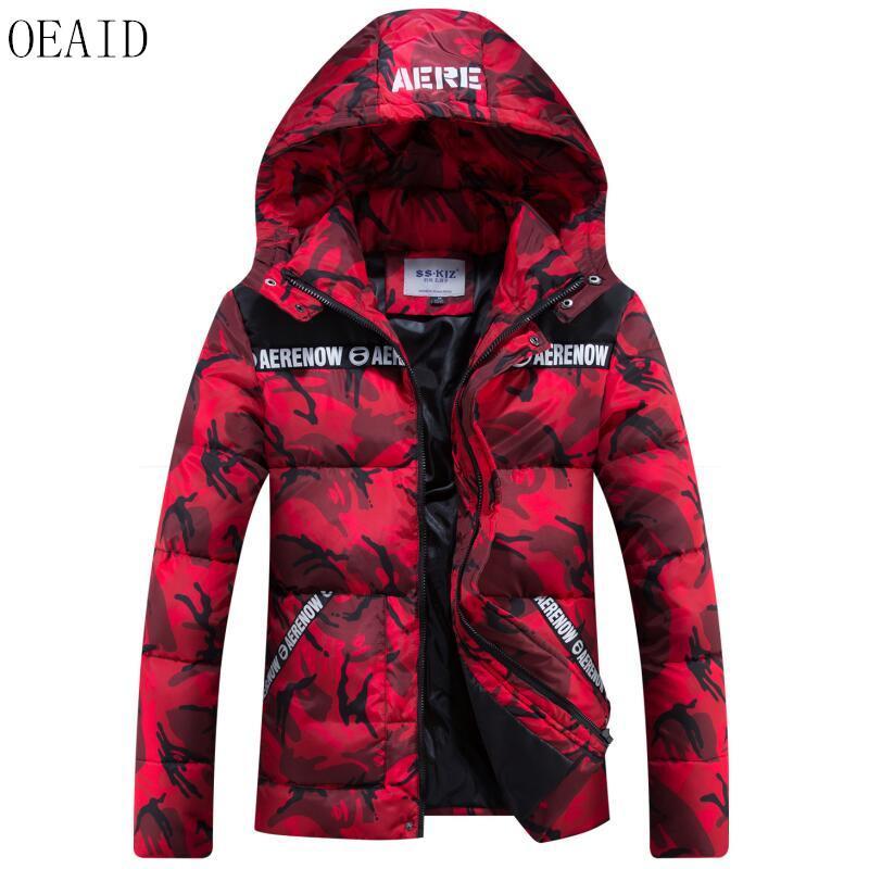 6dc7e56c0c1 2018 Oeaid Plus Size Winter Jacket Men New 2017 Winter Parka Men Coat Short  Slim Thickening Warm Camouflage Male Wadded Jacket From Sikaku