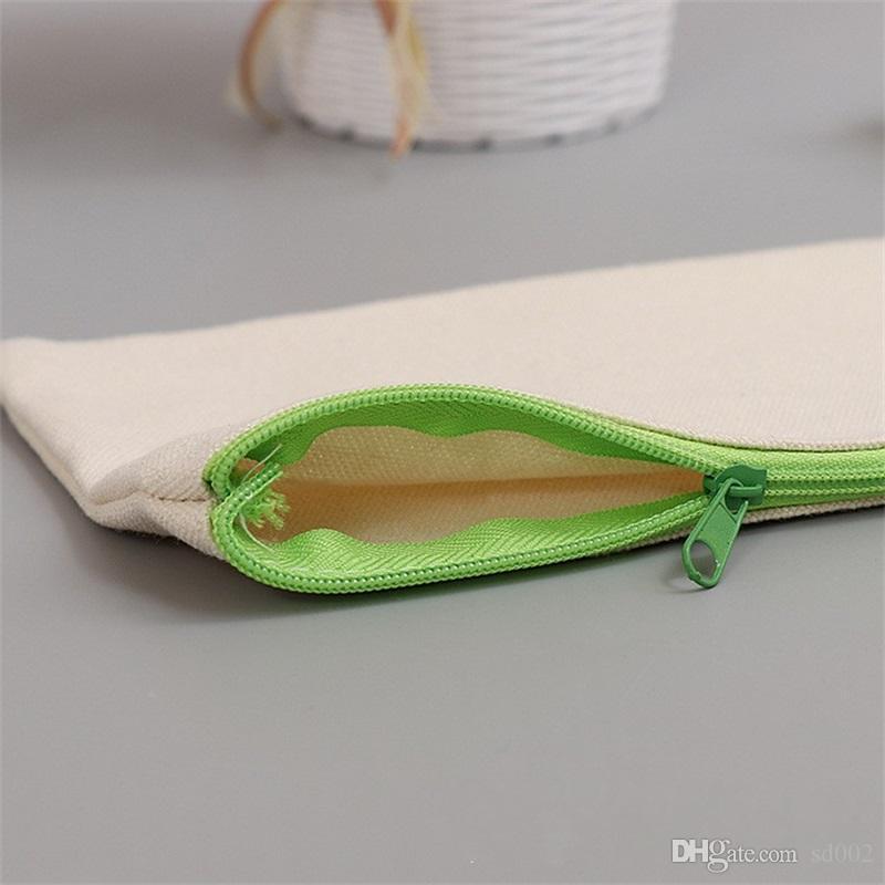 Sacchetto della penna della cassa di matita della chiusura lampo della tela Spazzola cosmetica dell'alta capacità delle borse della borsa Articoli di cancelleria dello studente 1 68jy C