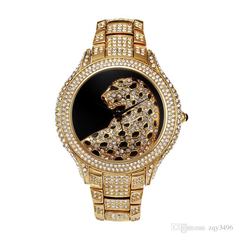 Grosshandel Rolle Luxus Uhr Manner Diamant Gold Herren Uhren Top