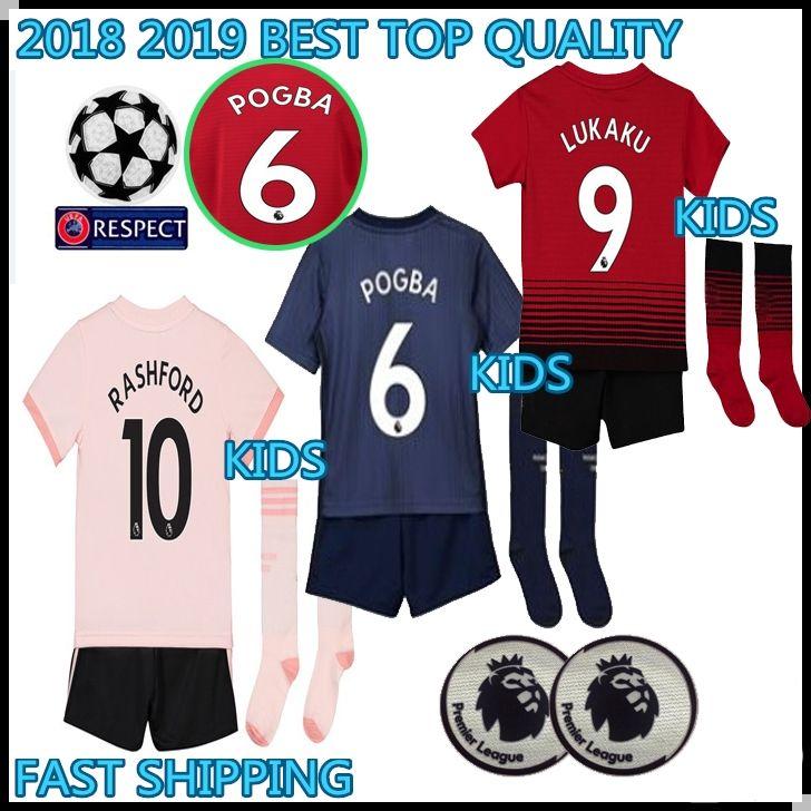2019 KIDS KIT 2018 2019 Manchester POGBA Soccer Jerseys 18 19 United  Football Shirt ALEXIS LINDELOF RASHFORD MKHITARYAN LUKAKU MARTIAL JERSEY  From ... cda2a92b1