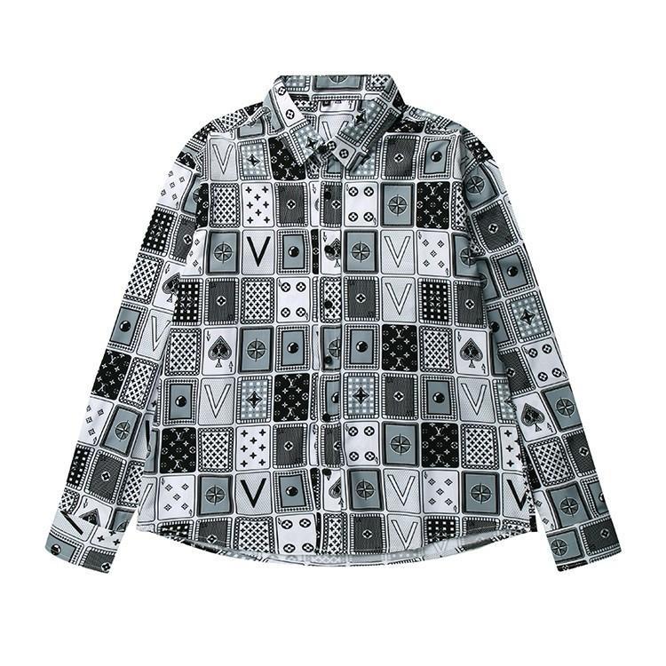 9c84c2ae78a 2018 New Men s Shirts Fashion Style Imported Cotton Fabrics Poker ...