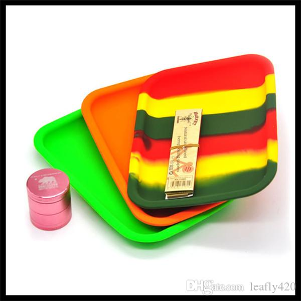 Hot Silicone Dab Tray Herb Rolling Tray Silicone Tray Bundle Machine Tools
