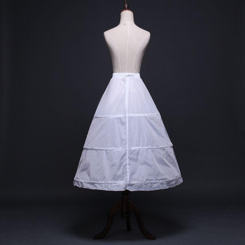 Underskirt Bridal Petticoat Wedding Dress Prom Skirt Carinoline Fullness 3-Hoop