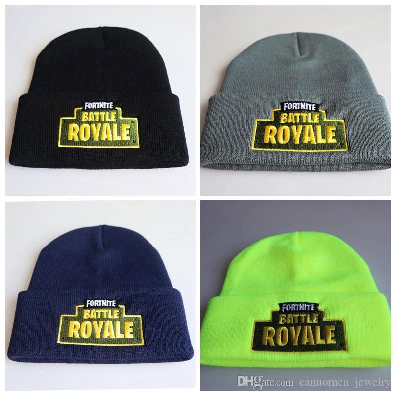 49da3a03a46 Fortnite Knitted Hat Hip Hop Embroidery Costume Cap Game Fans Gift ...