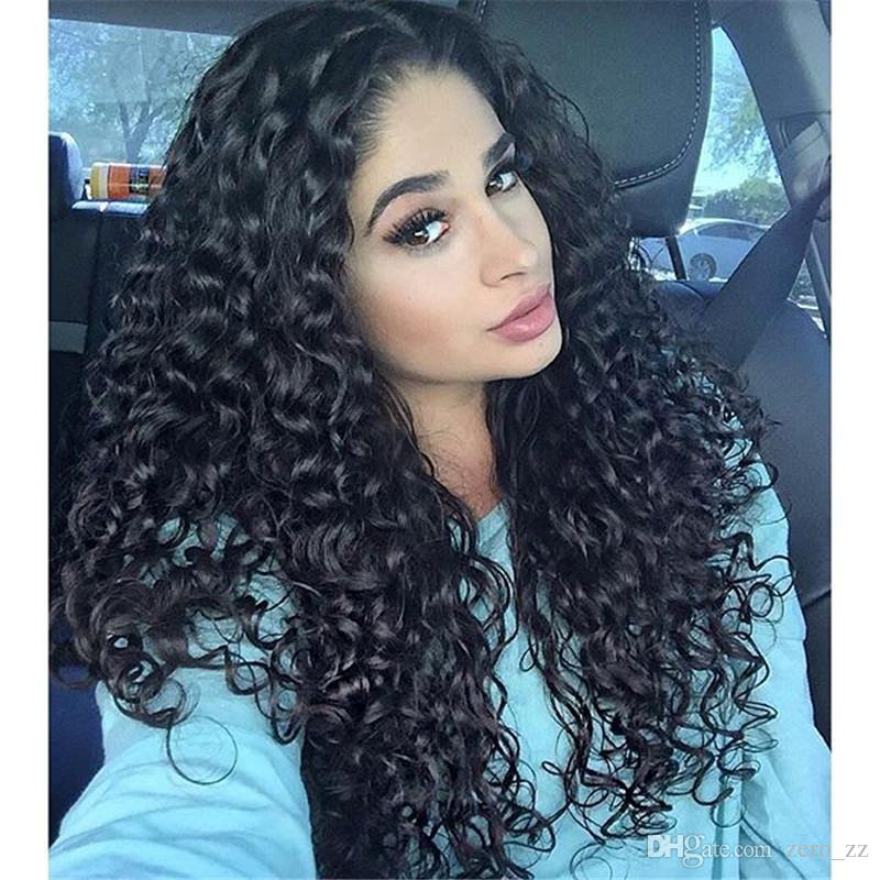 Европейские девственные волосы полный парик шнурка воды волны естественный цвет необработанный европейский Реми человеческих волос дешевая цена
