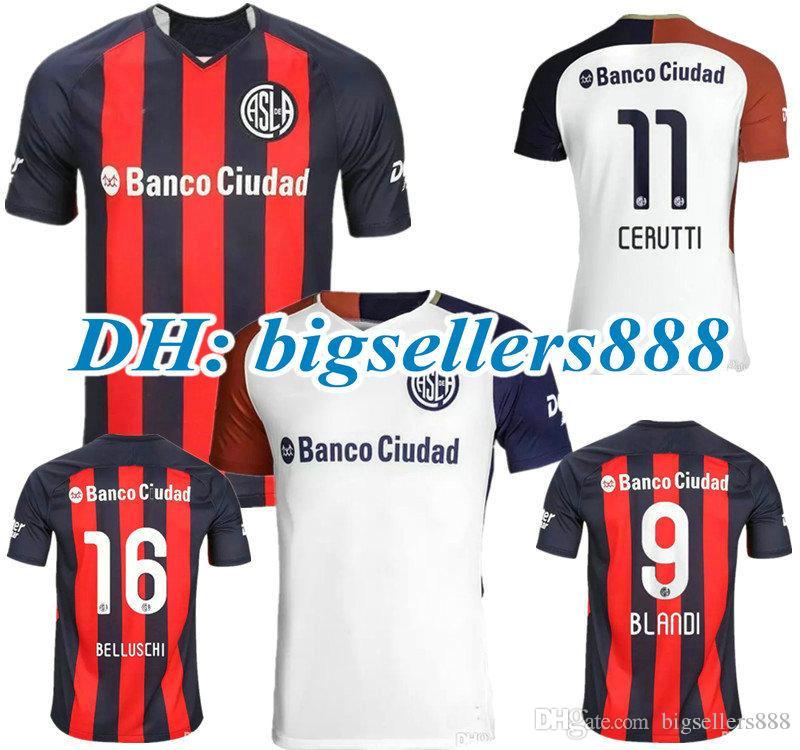 TOP QUALITY 18 19 San Lorenzo De Almagro Home Soccer Jersey ... 74160c0c77256